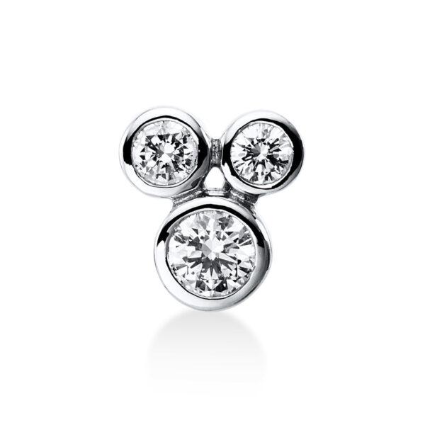 18 kt fehérarany medál 3 gyémánttal 3E249W8-1