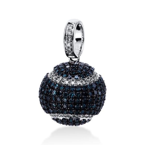 18 kt fehérarany medál 348 gyémánttal 3E199W8-1