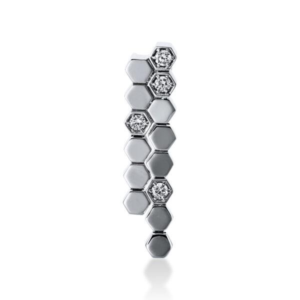 18 kt fehérarany medál 4 gyémánttal 3E145W8-1