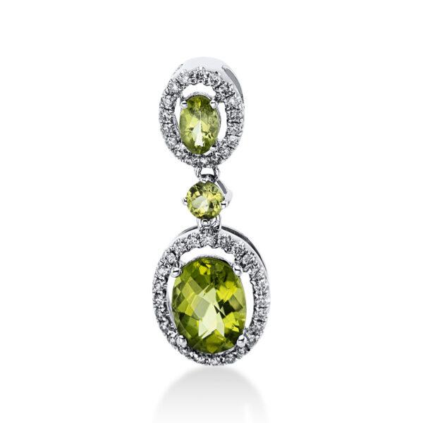 18 kt fehérarany medál 42 gyémánttal