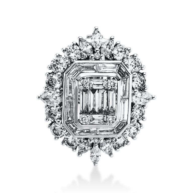18 kt fehérarany medál 48 gyémánttal 3E267W8-1
