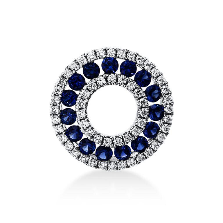 18 kt fehérarany medál 55 gyémánttal