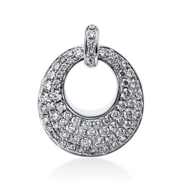 18 kt fehérarany medál 71 gyémánttal 3B513W8-1