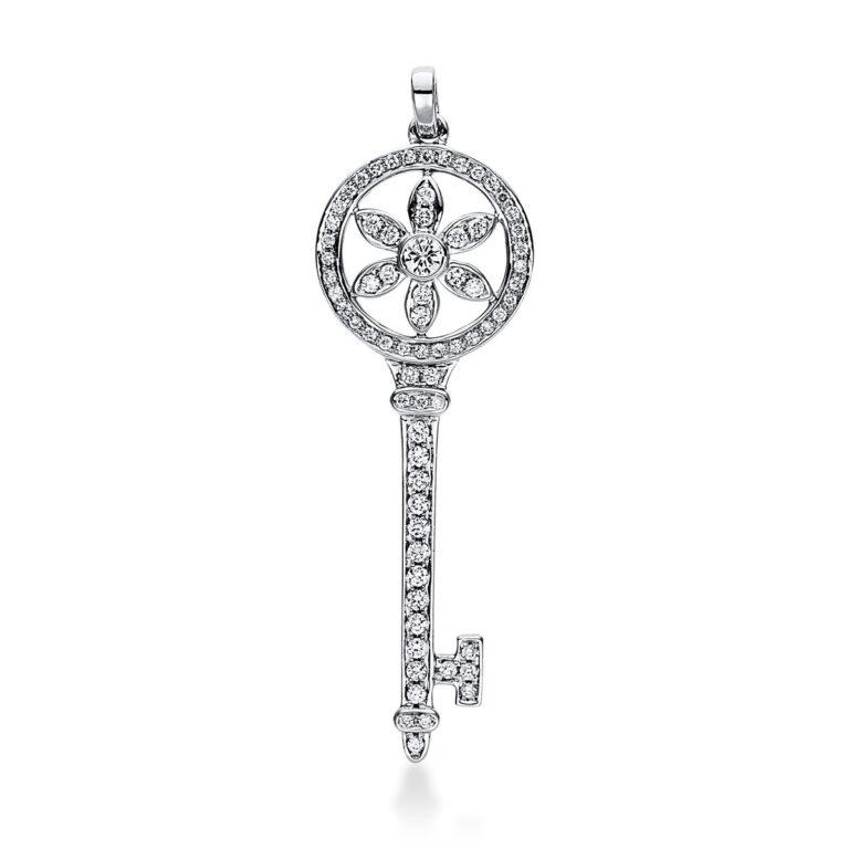 18 kt fehérarany medál 71 gyémánttal 3D936W8-1