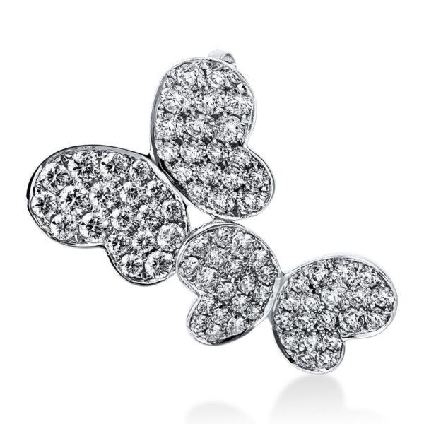18 kt fehérarany medál 76 gyémánttal 3E184W8-1