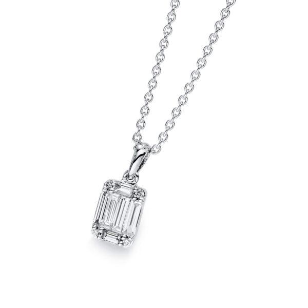 18 kt fehérarany medál 9 gyémánttal 3B412W8-2