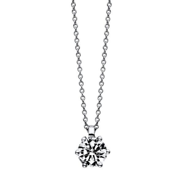 18 kt fehérarany nyaklánc 1 gyémánttal 4D627W8-1