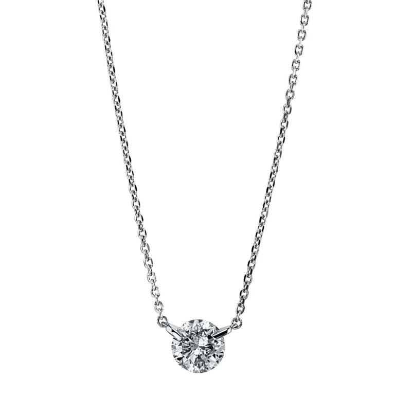 18 kt fehérarany nyaklánc 1 gyémánttal 4G299W8-1