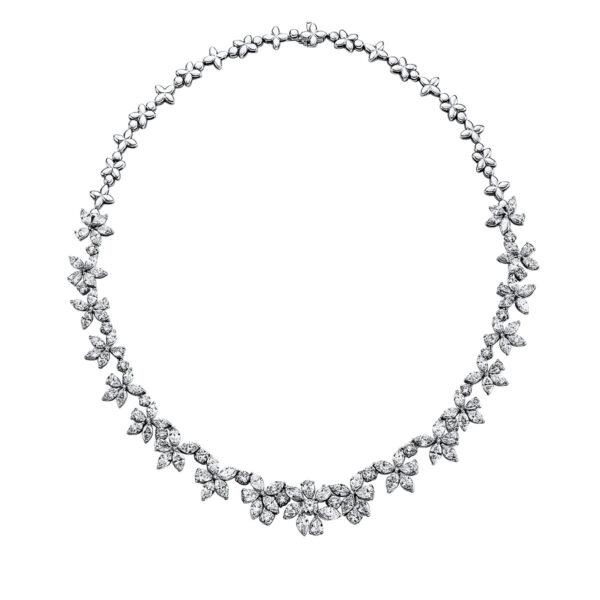 18 kt fehérarany nyaklánc 133 gyémánttal 4G105W8-1