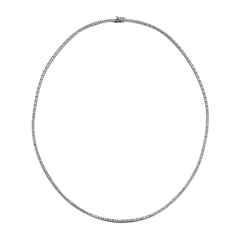 18 kt fehérarany nyaklánc 136 gyémánttal 4F196W8-1