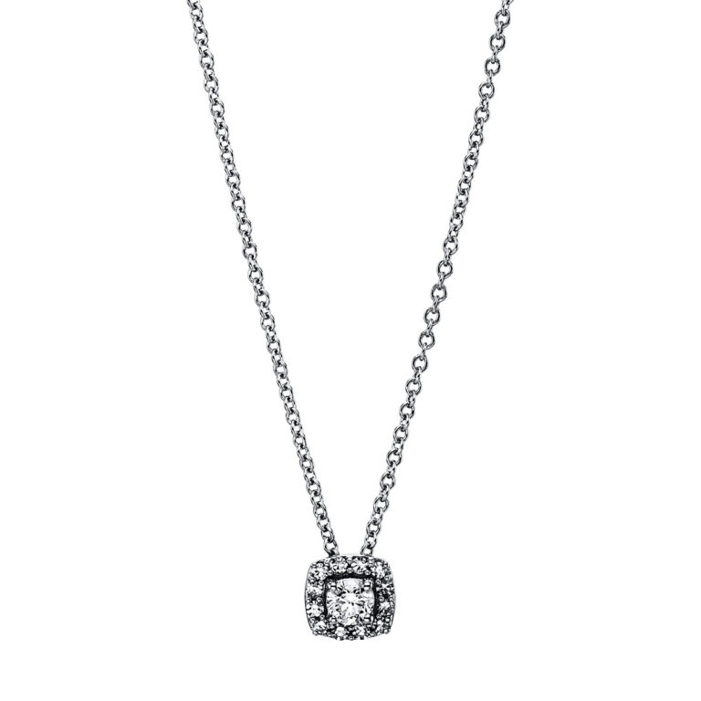 18 kt fehérarany nyaklánc 14 gyémánttal 4G229W8-1