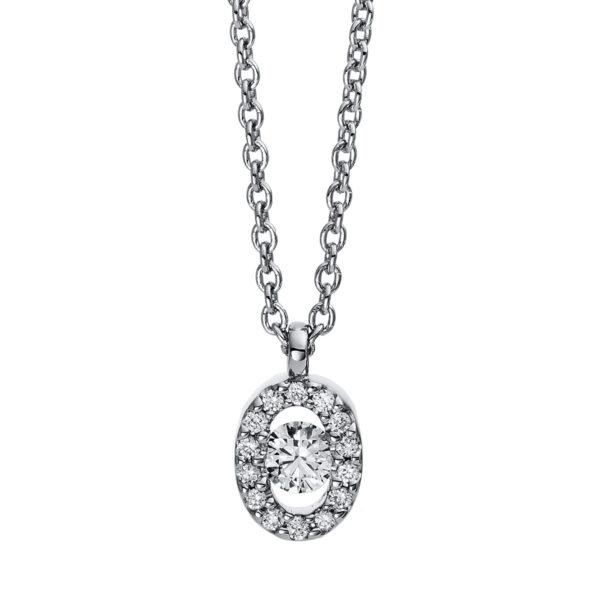 18 kt fehérarany nyaklánc 15 gyémánttal 4D382W8-7