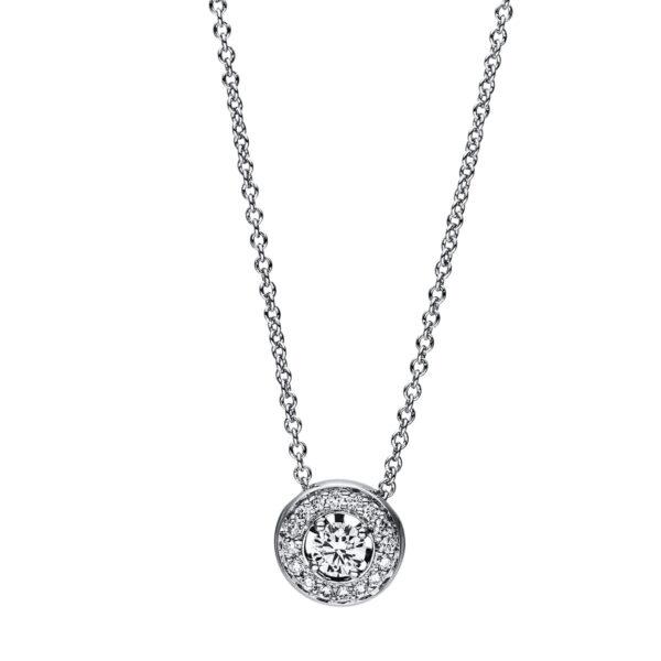 18 kt fehérarany nyaklánc 17 gyémánttal 4F181W8-2