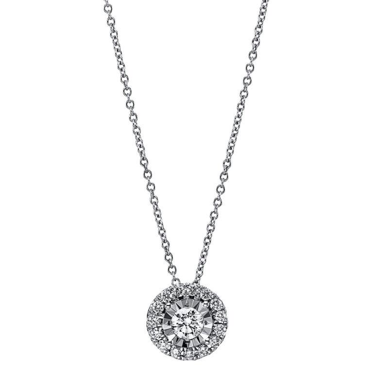 18 kt fehérarany nyaklánc 17 gyémánttal 4G215W8-1