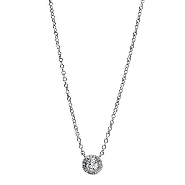 18 kt fehérarany nyaklánc 19 gyémánttal 4G048W8-1