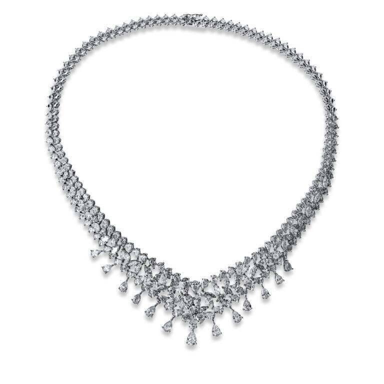 18 kt fehérarany nyaklánc 195 gyémánttal 4G367W8-1