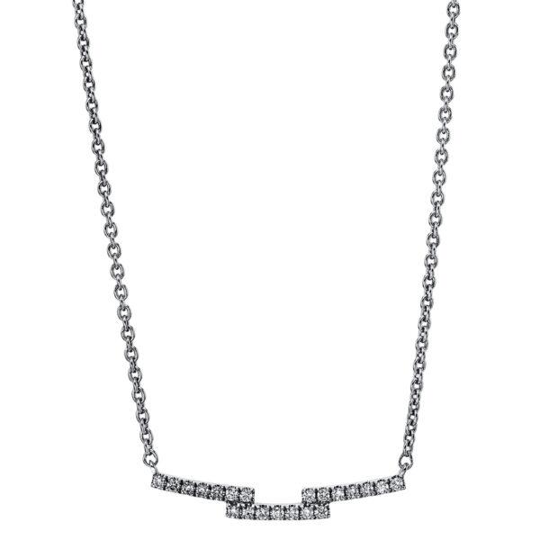 18 kt fehérarany nyaklánc 21 gyémánttal 4G251W8-1