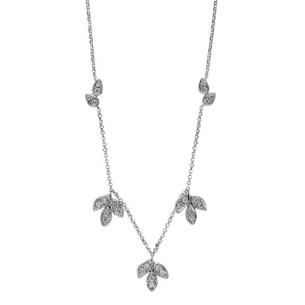 18 kt fehérarany nyaklánc 26 gyémánttal 4G085W8-1