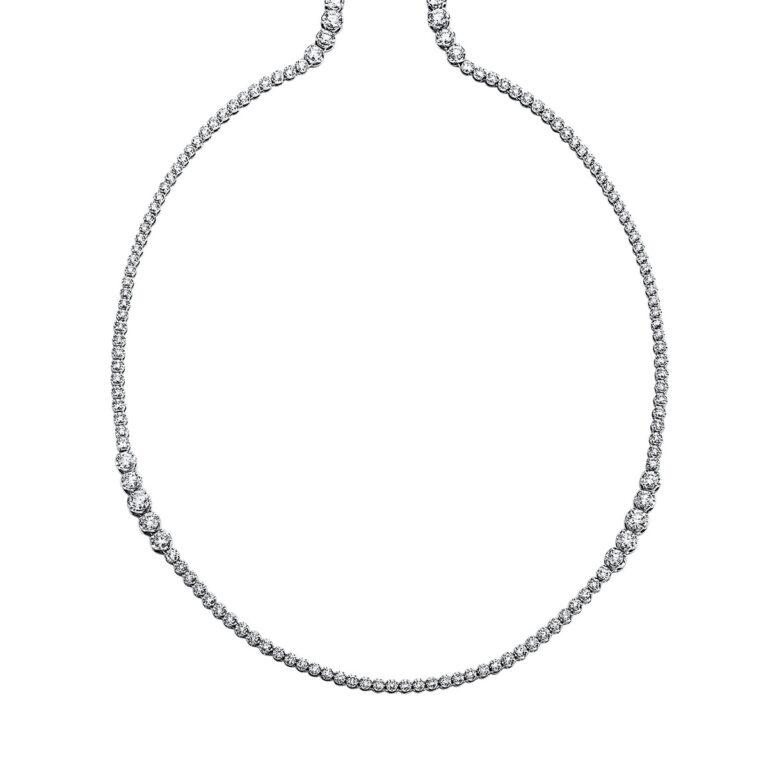 18 kt fehérarany nyaklánc 295 gyémánttal 4G130W8-1