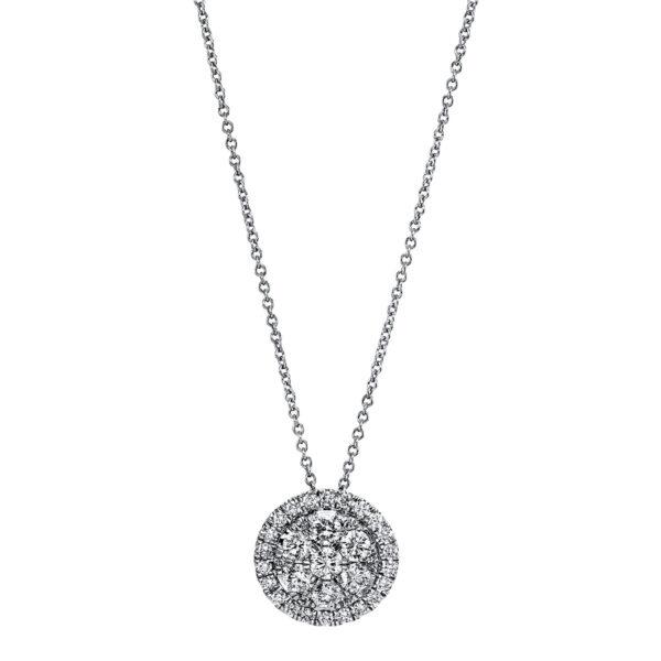 18 kt fehérarany nyaklánc 35 gyémánttal 4G209W8-2