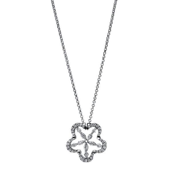 18 kt fehérarany nyaklánc 45 gyémánttal 4G071W8-1