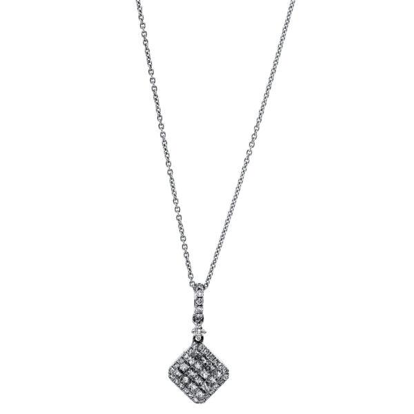 18 kt fehérarany nyaklánc 46 gyémánttal 4G070W8-1