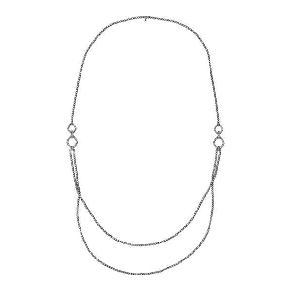 18 kt fehérarany nyaklánc 507 gyémánttal 4G131W8-1