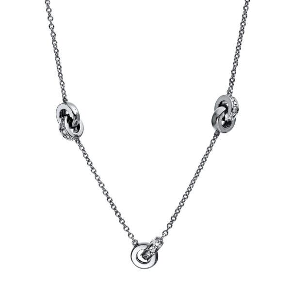 18 kt fehérarany nyaklánc 55 gyémánttal 4E006W8-1