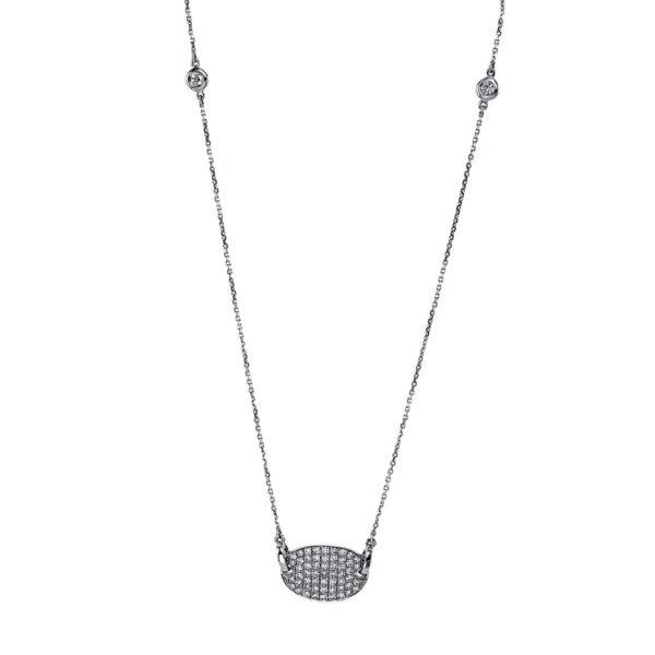 18 kt fehérarany nyaklánc 59 gyémánttal 4G142W8-1