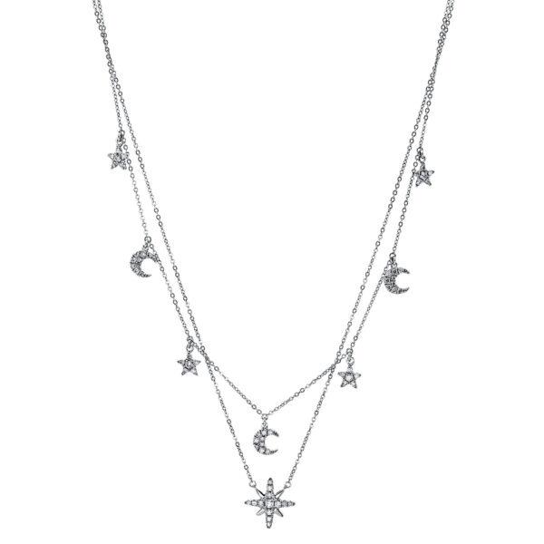 18 kt fehérarany nyaklánc 64 gyémánttal 4G147W8-1