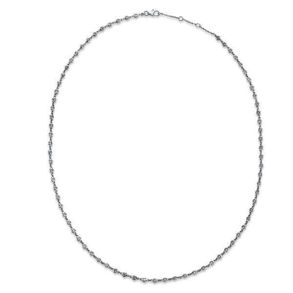 18 kt fehérarany nyaklánc 93 gyémánttal 4G141W8-1