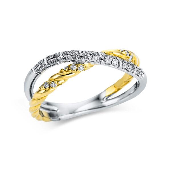 18 kt fehérarany / sárga arany  40 gyémánttal 1W847WG854-1