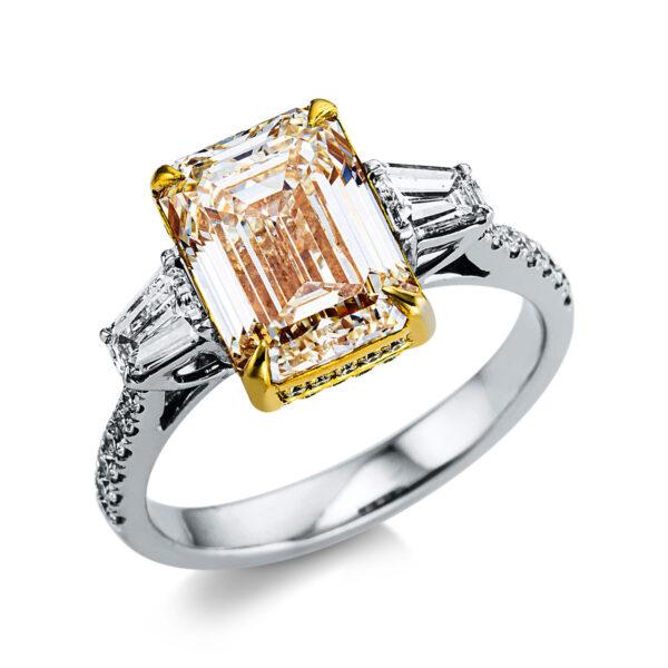 18 kt fehérarany / sárga arany több köves gyűrű 43 gyémánttal 1X015WG852-1