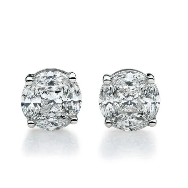 18 kt fehérarany steckeres 10 gyémánttal 2A665W8-12