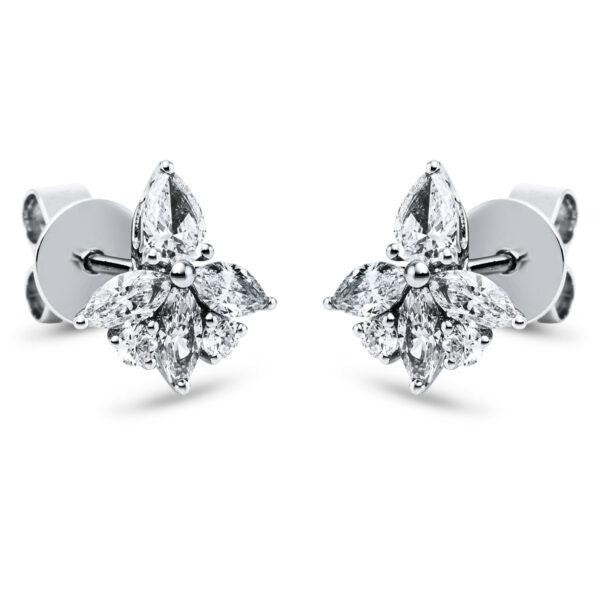 18 kt fehérarany steckeres 12 gyémánttal 2J857W8-1