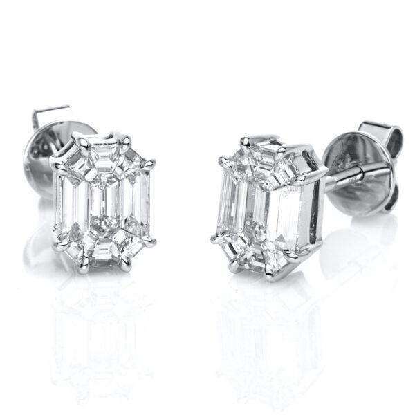 18 kt fehérarany steckeres 18 gyémánttal 2D657W8-2