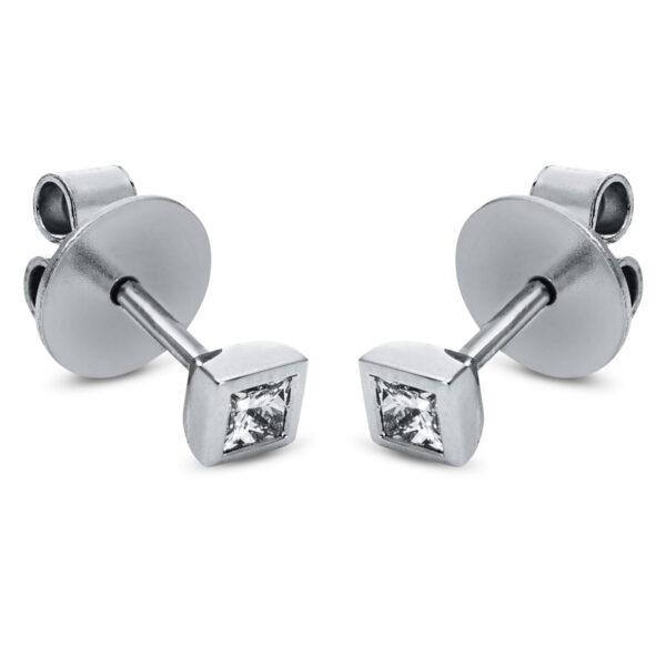 18 kt fehérarany steckeres 2 gyémánttal 2H737W8-1