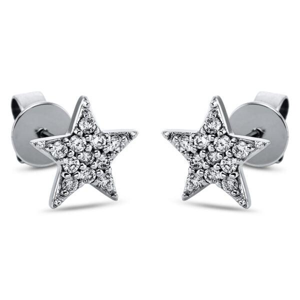 18 kt fehérarany steckeres 22 gyémánttal 2K165W8-1