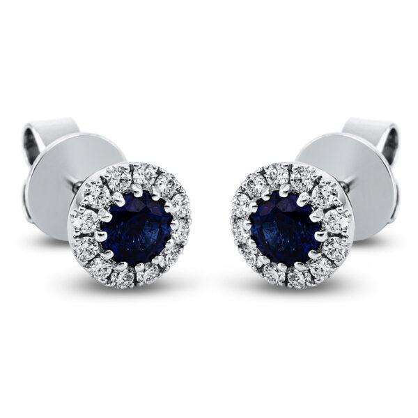 18 kt fehérarany steckeres 24 gyémánttal