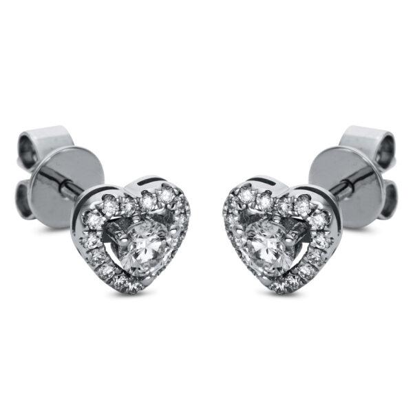 18 kt fehérarany steckeres 32 gyémánttal 2H860W8-3
