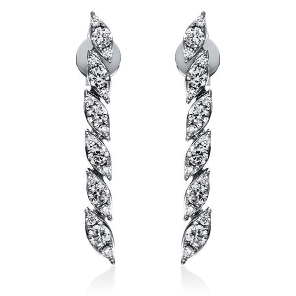 18 kt fehérarany steckeres 36 gyémánttal 2H806W8-1