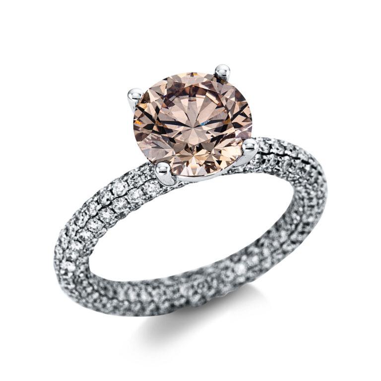 18 kt fehérarany szoliter oldalkövekkel 316 gyémánttal 1X280W854-1