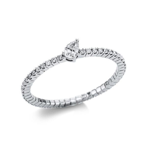 18 kt fehérarany szoliter oldalkövekkel 49 gyémánttal 1W730W854-2