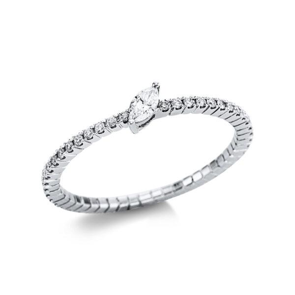 18 kt fehérarany szoliter oldalkövekkel 49 gyémánttal 1W731W854-2