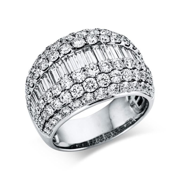 18 kt fehérarany több köves gyűrű 123 gyémánttal 1X278W854-1