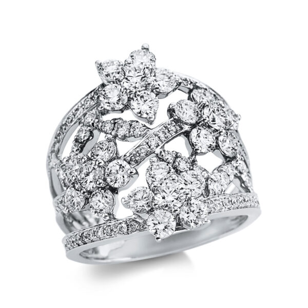 18 kt fehérarany több köves gyűrű 133 gyémánttal 1W685W852-1