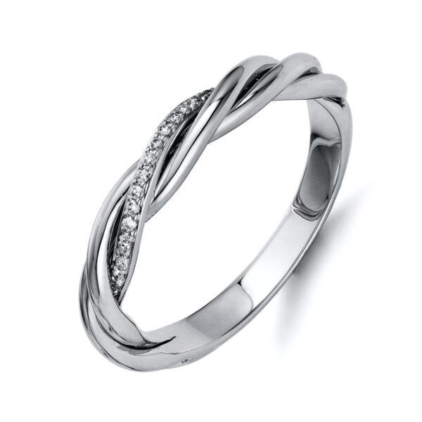 18 kt fehérarany több köves gyűrű 17 gyémánttal 1Q418W854-1
