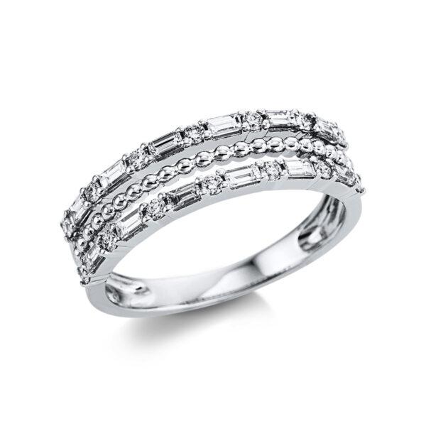 18 kt fehérarany több köves gyűrű 26 gyémánttal 1W732W854-1