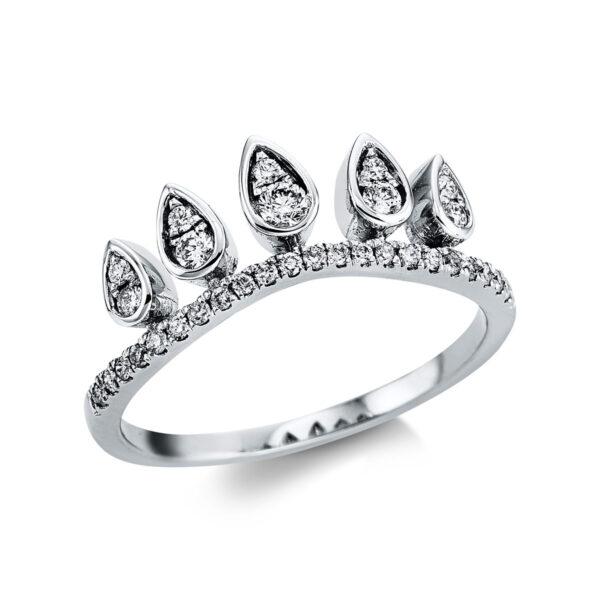 18 kt fehérarany több köves gyűrű 32 gyémánttal 1W850W854-1
