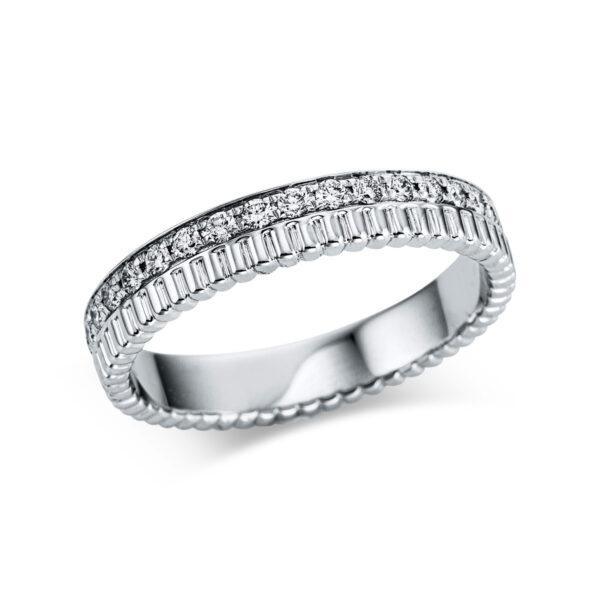18 kt fehérarany több köves gyűrű 35 gyémánttal 1W734W854-1